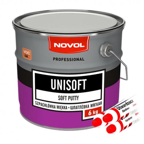 Шпатлевка автомобильная полиэфирная NOVOL Unisoft (мягкая), уп. 6 кг
