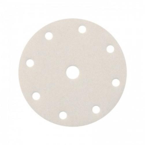 Абразивный шлифовальный круг SMIRDEX 510 White (Смирдекс), P500, D=150мм с 9 отверстиями