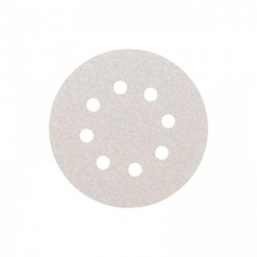 Абразивный шлифовальный круг SMIRDEX 510 White (Смирдекс), P280, D=125мм с 8 отверстиями