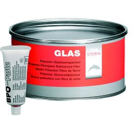 CARSYSTEM GLAS шпаклевка со стекловолокном 1 кг