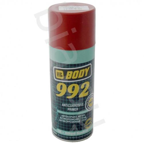 Аэрозольный антикоррозийный грунт для авто BODY 992 1K (коричневый), уп. 0,4л (спрей)