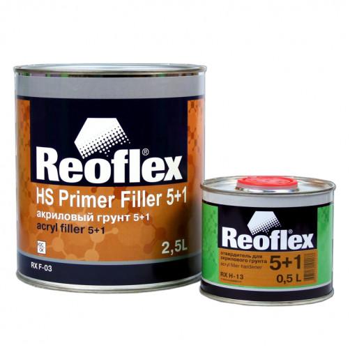 Грунт акриловый 2K 5+1 Reoflex (серый) уп. 2,5+0,5л (комплект)