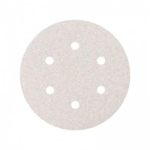 Абразивный шлифовальный круг SMIRDEX 510 White (Смирдекс), P600, D=150мм с 6 отверстиями