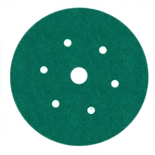 Абразивный круг 3М 245Р зелён. на липучке D=150 мм с 7 отв., Р80