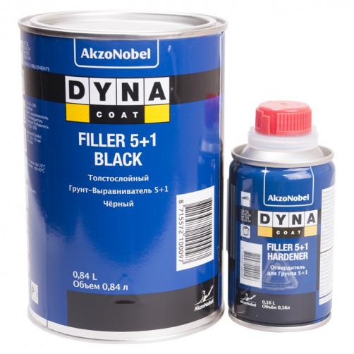 Комплект Грунт+Отвердитель Дайна Filler 5+1, черный,уп.0,84+0,16л