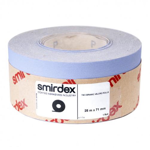 P500 Абразивная бумага в рулонах SMIRDEX Ceramic Velcro 740, 70мм*25м
