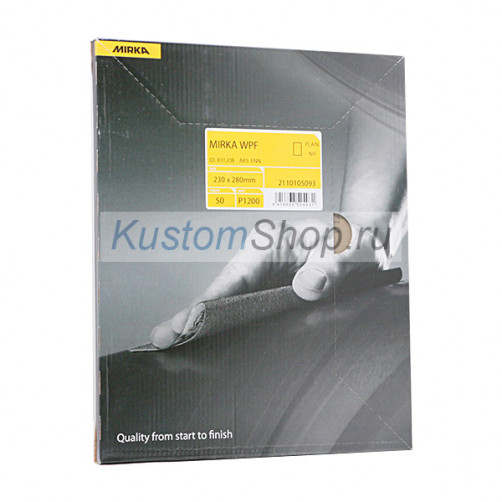Mirka WPF наждачная бумага влагостойкая 230х280 мм, P100, 50 шт