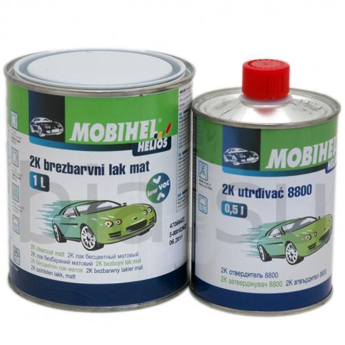 Бесцветный лак 2К Low VOC мат. Mobihel + отверд. 8800, уп 1л+0,5л (комплект)