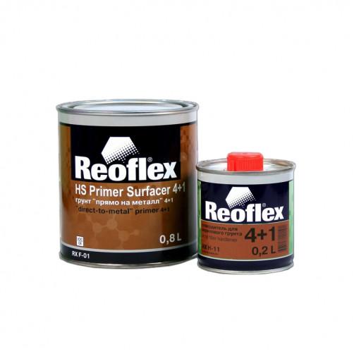 Грунт акриловый прямо на металл 2K 4+1 Reoflex (серый) уп. 0,8+0,2л (комплект)