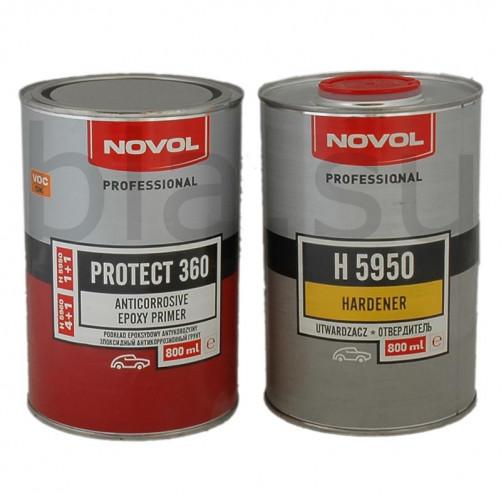 Грунт эпоксидный антикоррозионный NOVOL Protect 360, уп. 0,8л+0,8л