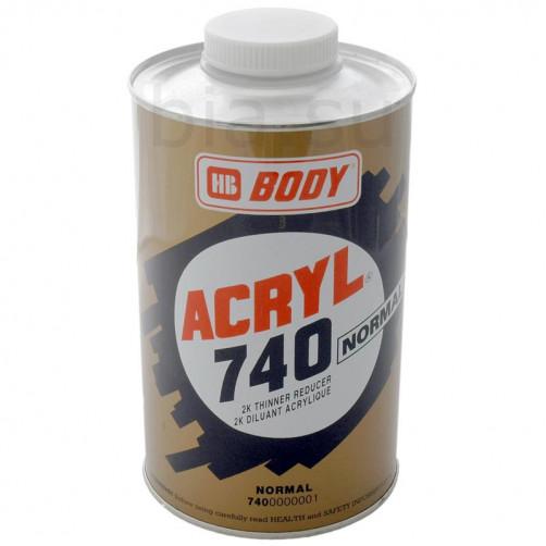 Растворитель для акриловых продуктов BODY 740 ACRYL (нормальный), уп. 1 л