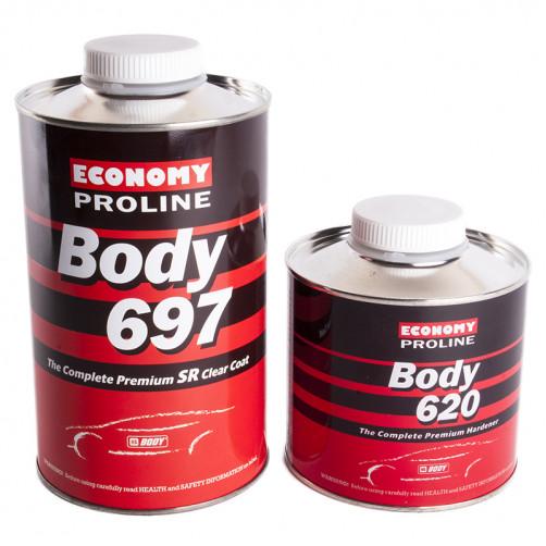 Лак акриловый автомобильный BODY PROLINE 697 HS SR 2:1 c отвердителем BODY 620, уп. 1л+0,5 л