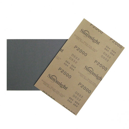 Sunmight наждачная бумага влагостойкая 140х230 мм, Р2000
