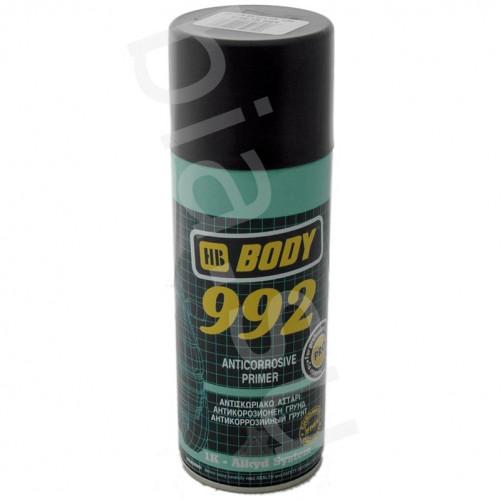 Аэрозольный антикоррозийный грунт для авто BODY 992 1K (чёрный), уп. 0,4л (спрей)
