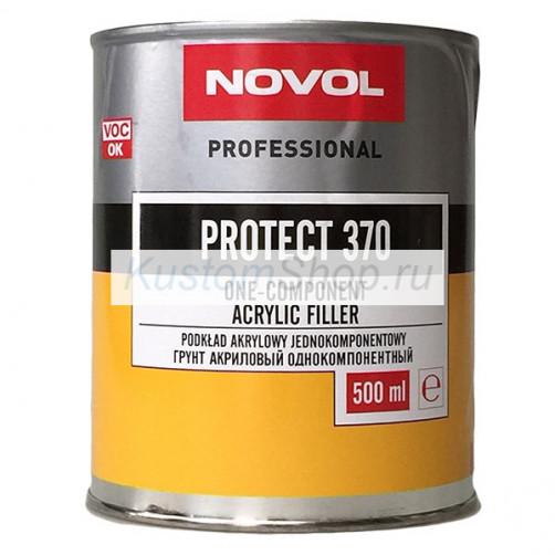 Novol Protect 370 грунт автомобильный 1К акриловый, серый, 500 мл