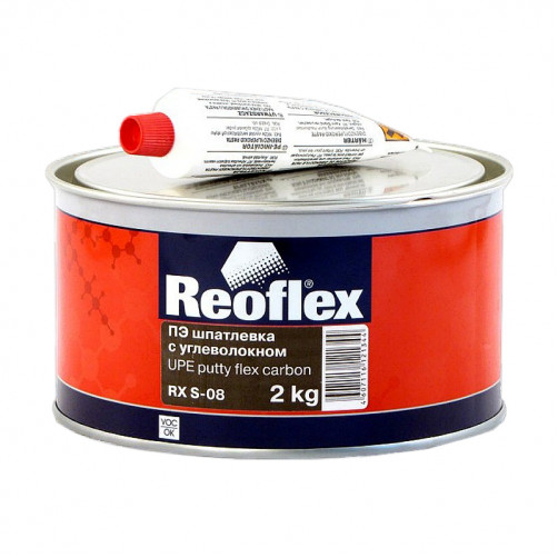 Шпатлевка с углеволокном Reoflex Flex Carbon RX S-08, уп. 2кг