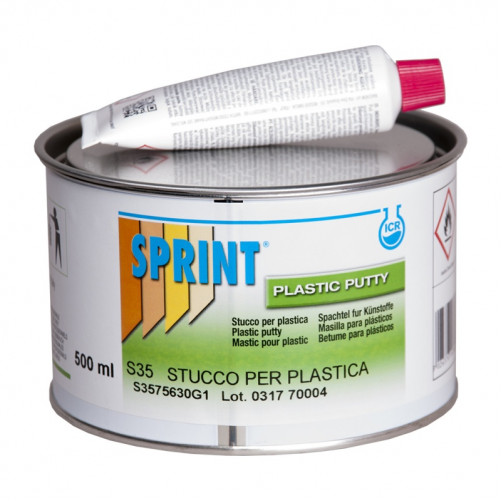 S35 Шпатлевка полиэфирная для пластика Sprint Stucco per plastica, уп. 0.5л/0,665 кг