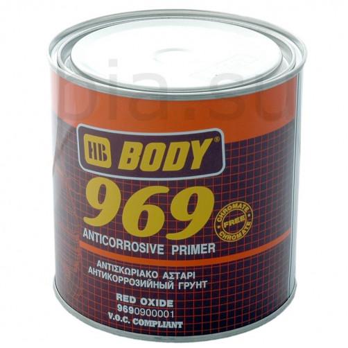 Грунт антикоррозийный  BODY 969 1К (коричневый), уп. 1 кг