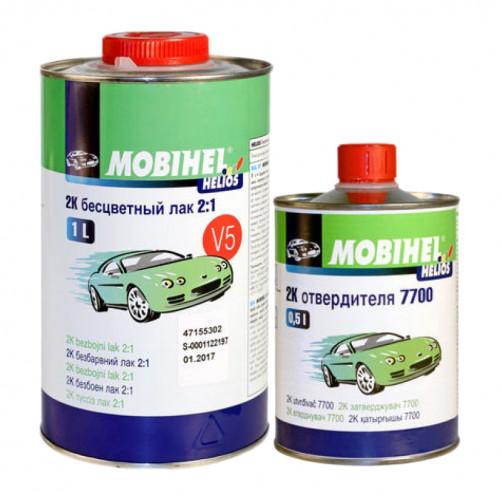 Бесцветный лак 2К 2+1 V5 Mobihel + отверд. 7700, уп 1л+0,5л (комплект)