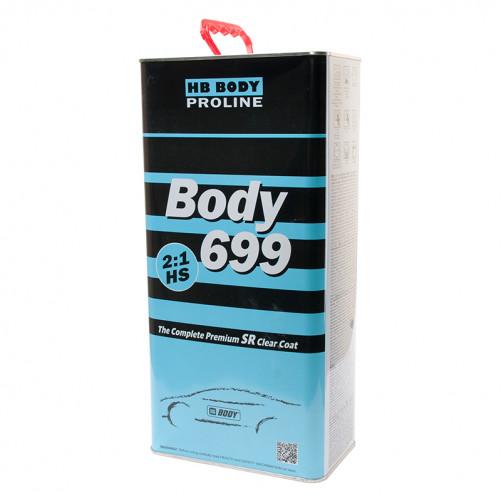 Лак акриловый автомобильный BODY 699 HS SR PROLINE, уп. 5 л