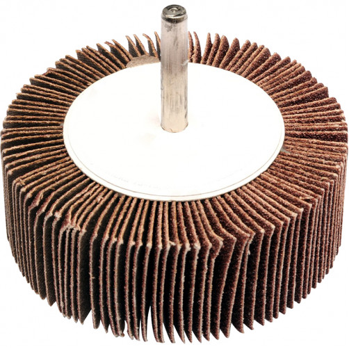 Круг лепестковый со шпинделем 80*30*6мм Р100 alox