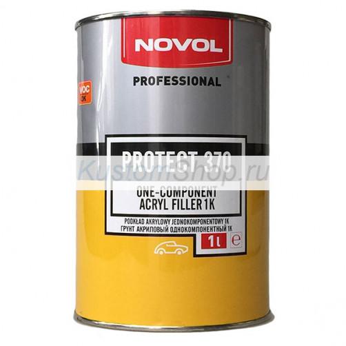 Novol Protect 370 грунт автомобильный 1К акриловый, серый, 1 л