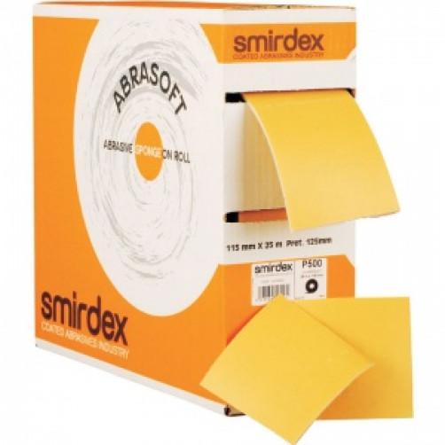 P240 Абразивная бумага на поролоновой основе в рулоне с перф. SMIRDEX 135 Abrasoft, 115*125мм*25м