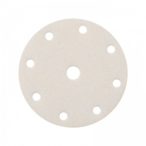 Абразивный шлифовальный круг SMIRDEX 510 White (Смирдекс), P40, D=150мм с 9 отверстиями