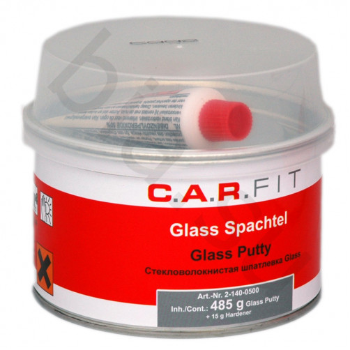 CF 2К Glas Шпатлевка полиэфирная стекловолокнистая C.A.R.FIT (Карфит) уп.0,5 кг