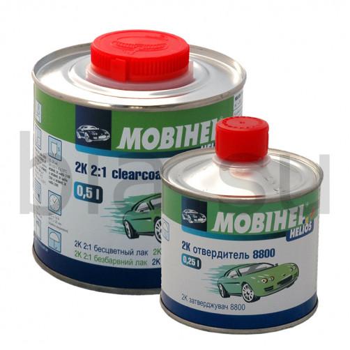 Бесцветный лак 2К MS Mobihel + отверд. 8800, уп. 0.5л+0,25л (комплект)