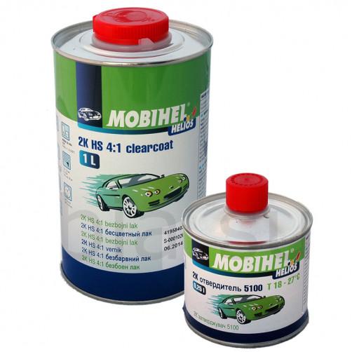 Бесцветный лак 2К HS 4+1 акрил Mobihel + отверд. 5100, уп 1л+0,25л (комплект)