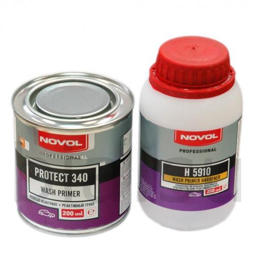 Грунт реактивный антикоррозионный NOVOL Protect 340, уп. 0,2л+0,2л