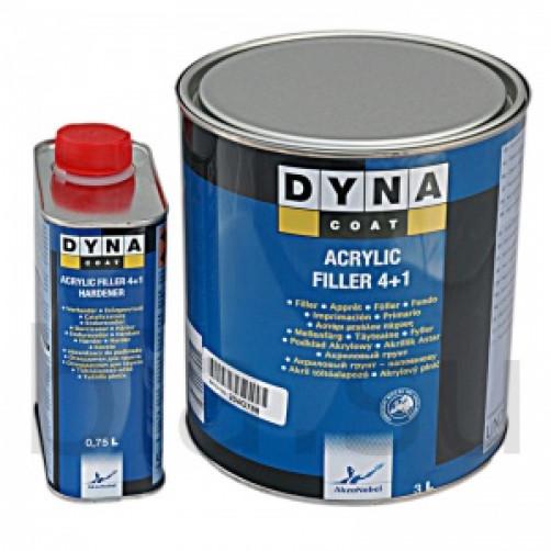 Комплект Грунт+Отвердитель Dynacoat (Дайна) Filler 4+1, уп.3л+0,75л арт. ND00011+ND00013