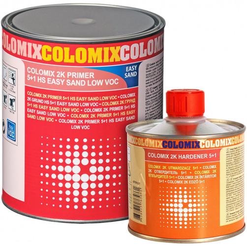2К грунт 5+1 HS EASY SAND серый Colomix, уп. 0,75л + 0,15л