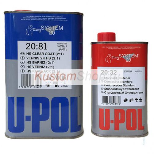 U-POL S2081 лак автомобильный HS 1+0,5 л