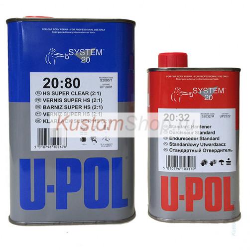 U-POL S2080 лак автомобильный HS кристально прозрачный 1+0,5 л