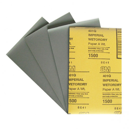 3М 02048 401Q наждачная бумага микротонкая влагостойкая 138х230 мм, P1500