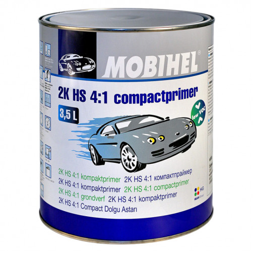 Грунт 2К HS 4+1 компактпраймер Low VOC Mobihel (чёрный), уп. 3,5л