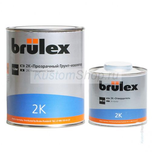 Brulex грунт автомобильный (2:1) изолятор, прозрачный, 1+0,5 л