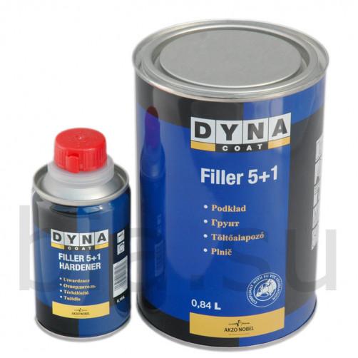 Комплект Грунт+Отвердитель Дайна Filler 5+1 серый, уп.0,84+0,16л