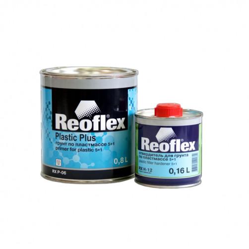 Грунт выравниватель по пластмассе 2К 5+1 Reoflex (серый) уп. 0,8+0,16л (комплект)