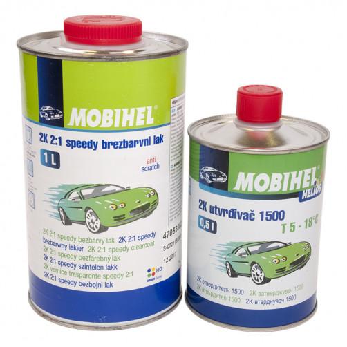 Бесцветный лак 2К MS 2+1 быстрый Mobihel + отверд.1500, уп. 1л+0,5л (комплект)