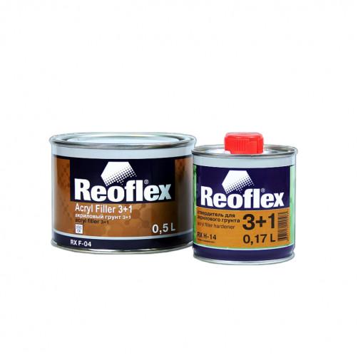 Грунт акриловый 2K 3+1 Reoflex (серый) уп. 0,5+0,167л (комплект)