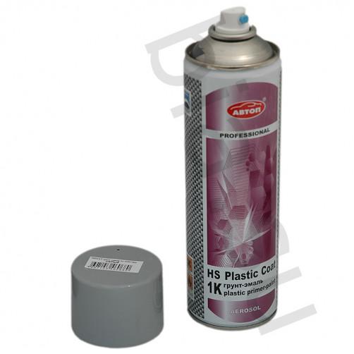 Грунт-эмаль для пластика (серый) Автоп, уп. 650 мл, (аэрозоль)
