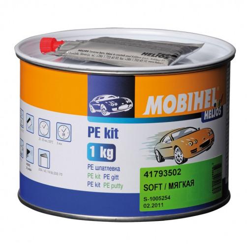 Шпатлевка мелкая автомобильная полиэфирная, Mobihel, уп. 1 кг