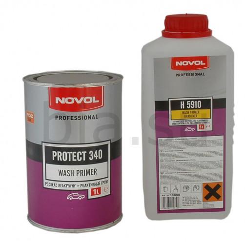 Грунт реактивный антикоррозионный NOVOL Protect 340, уп. 1л+1л