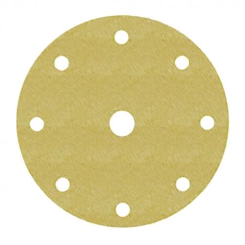 Абразивный круг 3М 255Р золот. на липучке D=150 мм с 9 отв., Р180