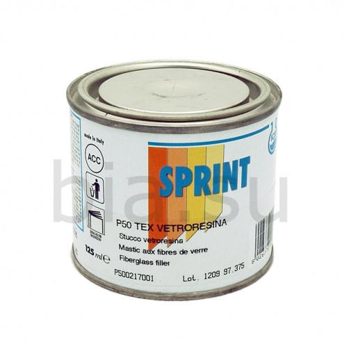 P50 Шпатлевка автомобильная полиэфирная со стекловолокном Sprint Tex (серая), уп. 0,125л/0,185кг